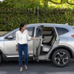2019 Honda CR-V with mother and child near crosswalk