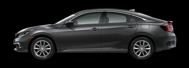 2020 Honda Civic EX side profile comparison thumbnail