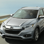 2020 Honda HR-V driving on coastal highway