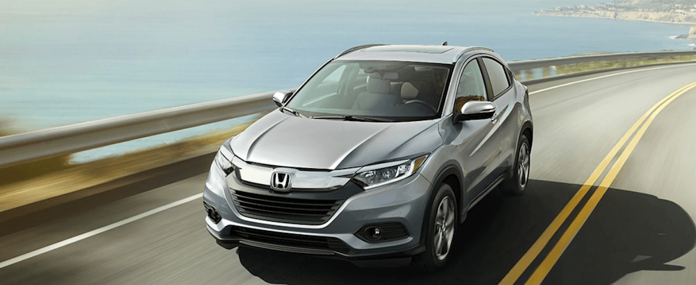 2020 Honda HR-V driving on coastal highway