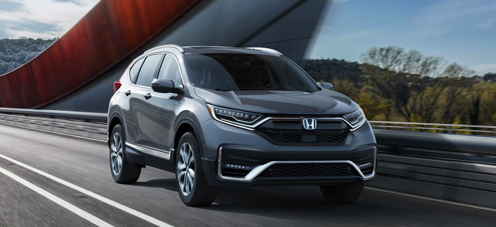 2020 Honda CR-V Hybrid configuration driving on highway