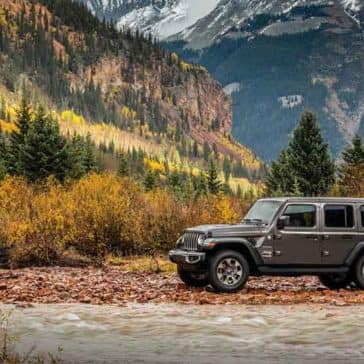 2018 Jeep Wrangler 4-Door Parked in the Mountains