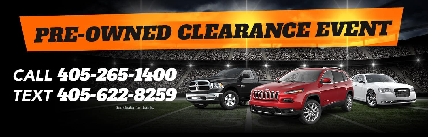 Pre-Owned Clearance Event