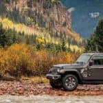 2018 Jeep Wrangler in the Mountains