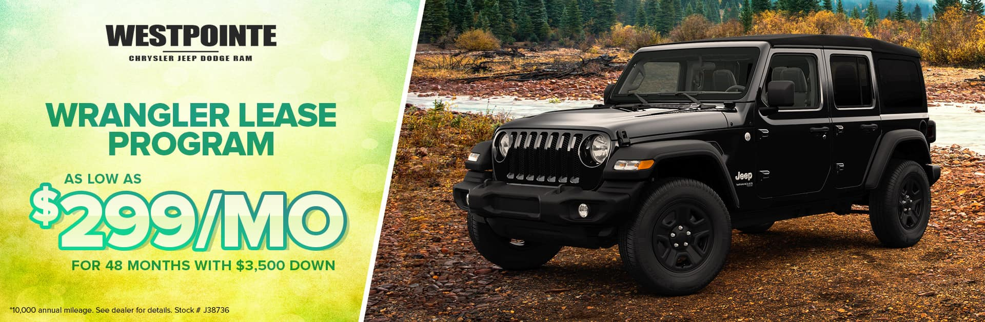 Wrangler Lease Program - Westpointe Chrysler Jeep Dodge Ram