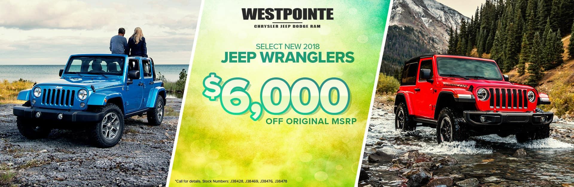 2018 Jeep Wrangler - Westpointe Chrysler Jeep Dodge Ram