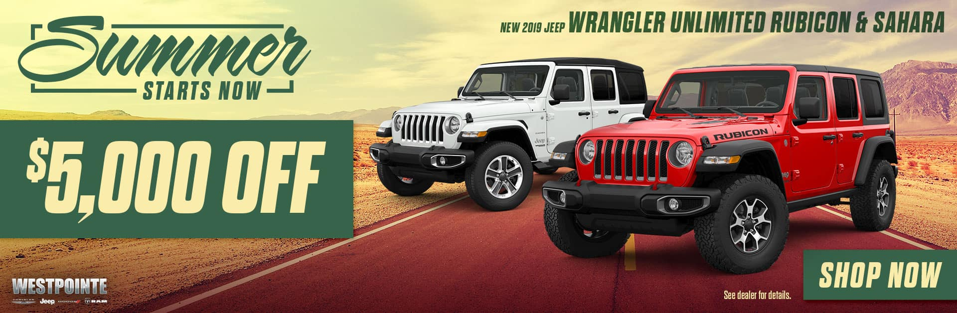 2019 Wrangler Unlimited Rubicon & Sahara