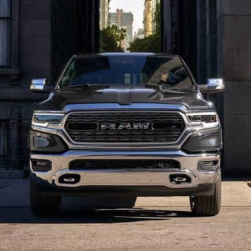 2019 Ram 1500 drives down city alley