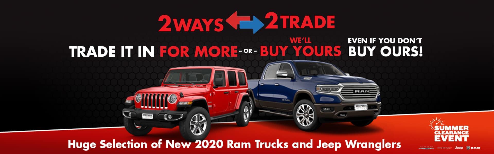 2 Ways 2 Trade Summer Sales Event