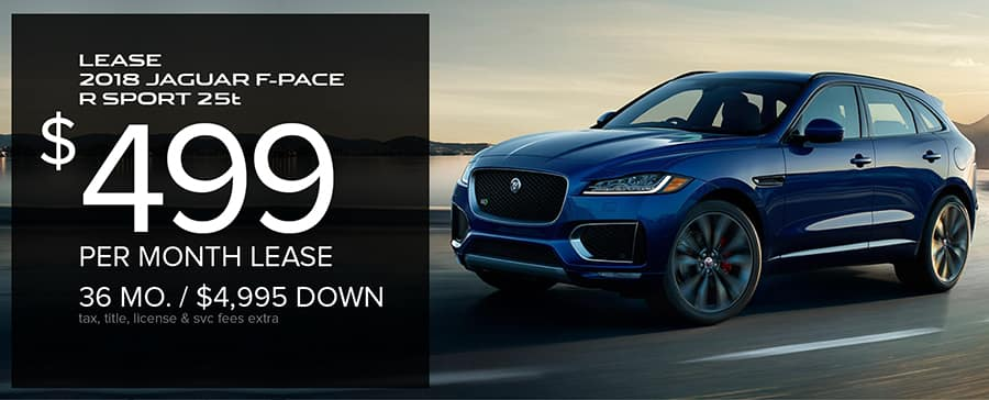 Elegant New 2018 Jaguar F PACE R SPORT 25t AWD SUV. STK# J18 214   MSRP: $59,631.  36 Month/10,000 Mile/year Lease. Offers Include All Applicable Incentives.