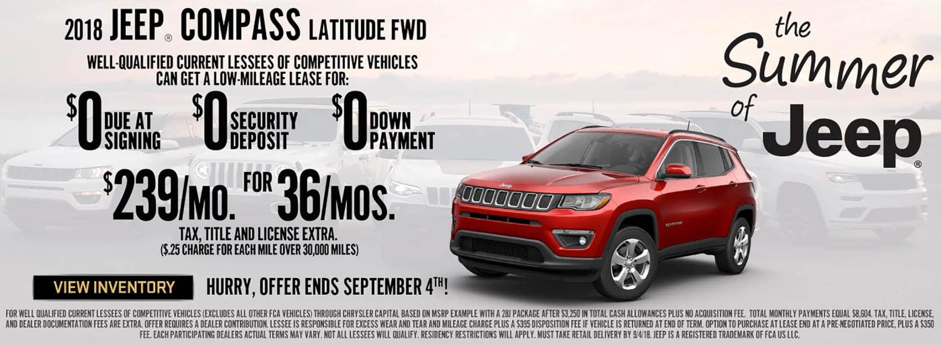 Jeep Compass $239 Lease Offer