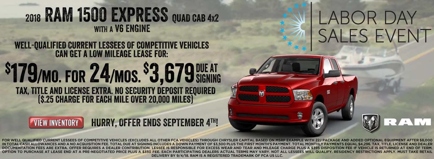Ram Express $179 Lease offer